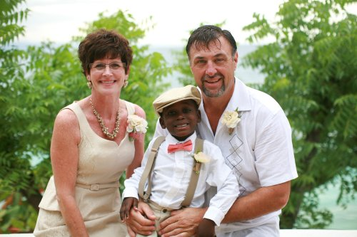 Matthew and my parents at my wedding nearly one year ago. When Matthew was rescued, the doctors estimated he was within 48 hours of dying. God's timing was perfect and Matthew reminds me that miracles still DO happen.